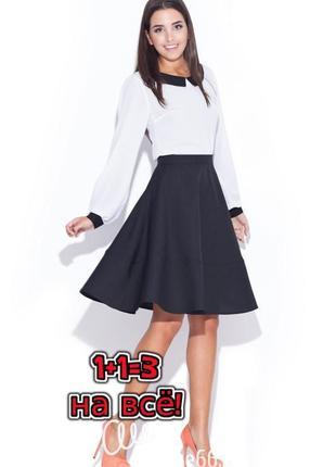 🌿1+1=3 фирменная стильная теплая юбка миди с высокой посадкой damart, размер 44 - 46