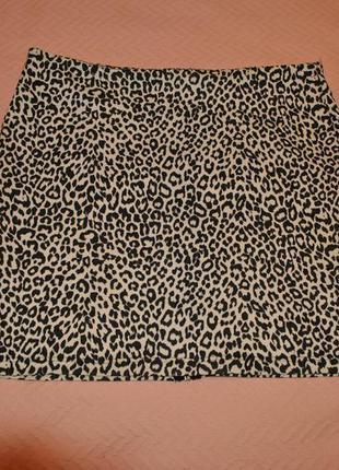 Классная леопардовая юбка