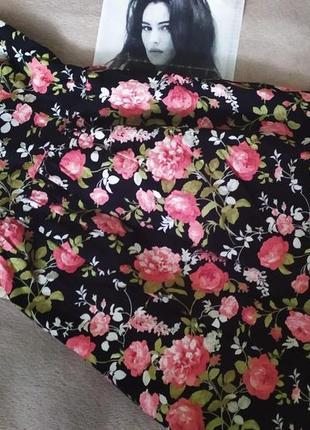 Платье бандо цветочный принт розы