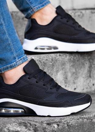 Мужские кроссовки чёрные без бренда ♦ весна лето осень