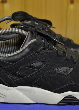 Мужские кроссовки puma trinomic r698 core leather black