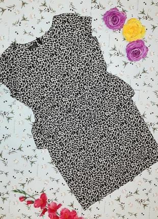 🌿1+1=3 крутое леопардовое платье футляр миди с баской papaya, размер 54 - 56