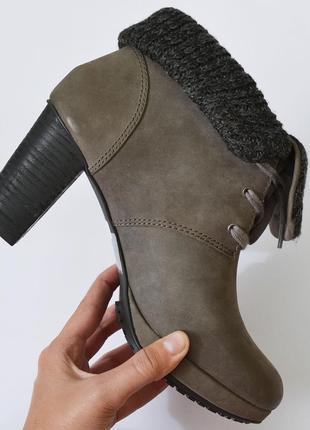 Фирменные кожаные ботинки от marc o'polo