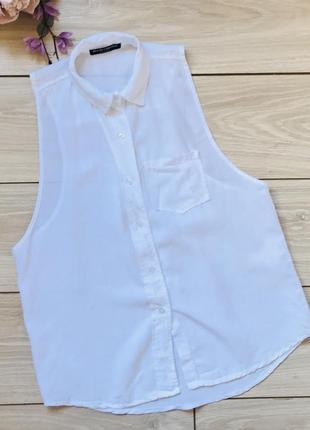 Белая рубашка без рукавов италия