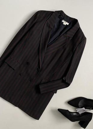 Шикарный двубортный блейзер / удлиненный пиджак h&m