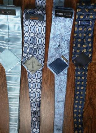 #розвантажуюсь галстуки шелк 4шт лот ted baker,next и др.