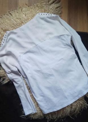 Белый свитшок с шифоным верхом vivi