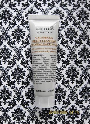 Гель пена kiehl's для глубокого очищения calendula deep cleansing foaming face wash kiehls