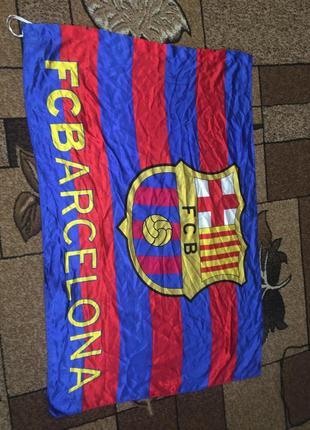Футбольный флаг barcelona