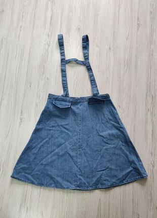 Распродажа до 10 апреля!!!🔥 джинсовый комбинезон с рассклешонной юбкой