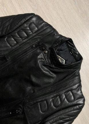 Biker jacket real leather косуха