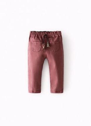 Джинсы джинси штаны zara на девочку 3-4 года1 фото