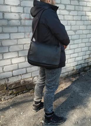 Сумка (рюкзак, саквояж) месседжер кожаный paul smith