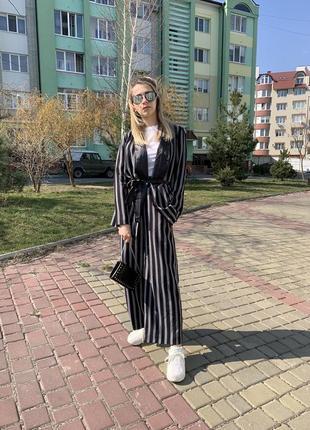 """Костюм в """"піжамному» стилі в полоску  zara"""