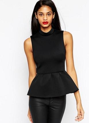 Блуза с баской, топ, нарядная кофточка