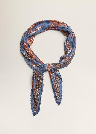 Новый стильный голубой узорный платок