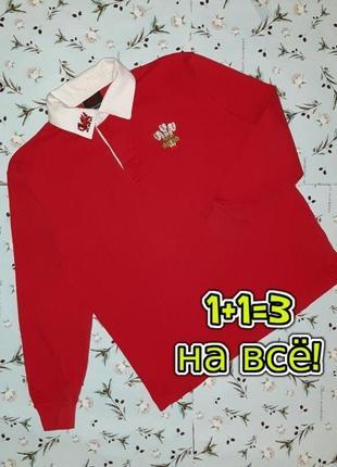 🌿1+1=3 яркий красный свитер поло manay premier с драконом на мальчика 13 - 14 лет