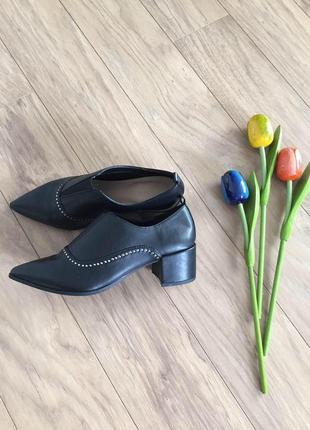 Туфли демисезонные чёрные