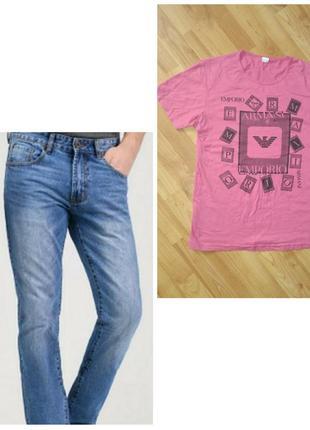 Акция дня‼️стильные синие джинсы+🎁фктболка