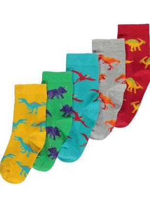 Набор носков мальчику р.23-30 динозавры george (джордж)