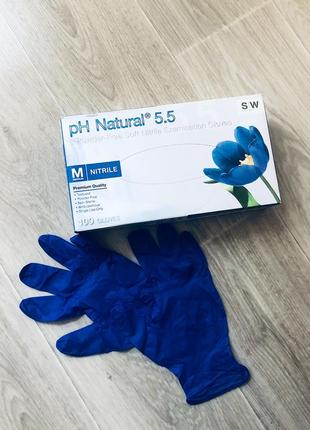 Перчатки нитриловые, size m