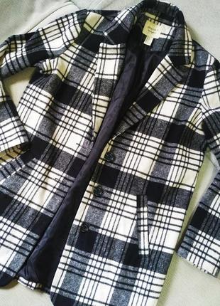 Пальто-пиджак, пиджак в клетку