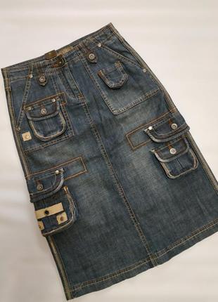 Джинсовая юбка sabre keet сафари