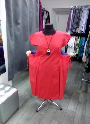 Новое итальянское натуральное платье хлопок котон италия этикетка бохо оверсайз есть цвета