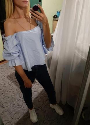 Шикарная хлопковая блуза, рубашка свободного кроя