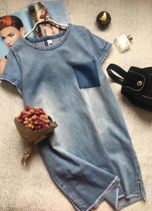 Базовое джинсовое платье с необработанными краями /h&m/ размер xl