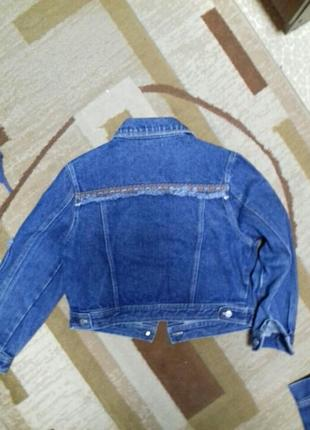 Класная джинсовая куртка3 фото