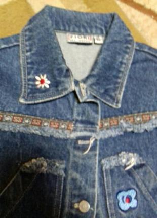 Класная джинсовая куртка4 фото