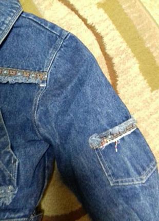 Класная джинсовая куртка5 фото