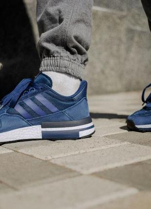 Кроссовки мужские adidas zx 500, синие, адидас зх, кросівки