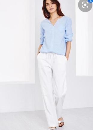 Женские белые льяные брюки next