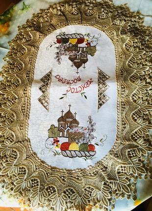 Салфетка с пасхальным рисунком