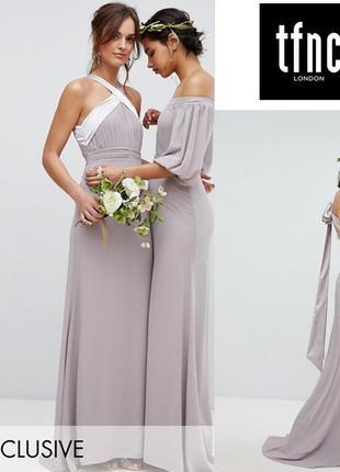 Роскошное платье в пол tfnc (asos) uk10/eu38