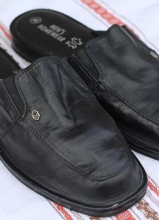 Домашние кожаные тапочки люкс класса men's homewear 45-46
