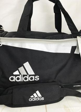 Спортивная сумка adidas с отделом для обуви. дорожная сумка ксс14-2