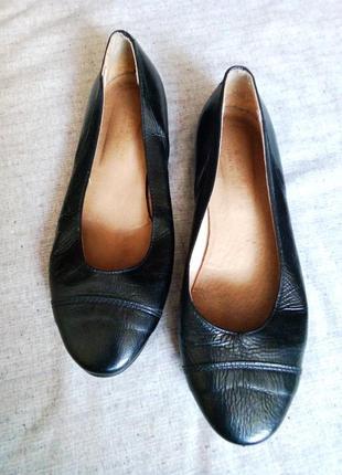 Балетки туфли черные