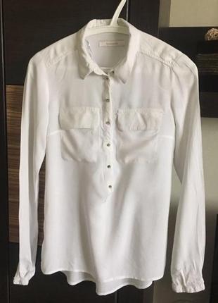 Блуза , рубашка белая reserved xs/s