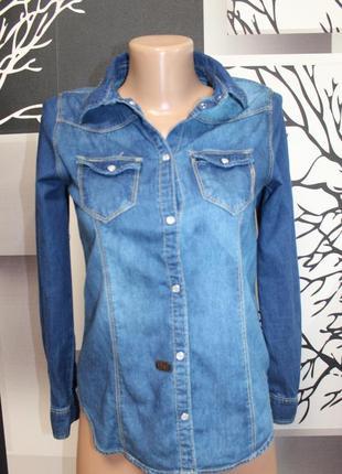 Джинсовая рубашка denim co на девочку 12-13 лет в идеальном состоянии