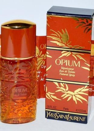 Yves saint laurent opium винтаж_1977г_original  eau de toilette 5 мл затест