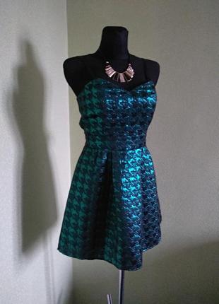 Блестящее зелёное платье от select#размер 12#цена 175 грн#