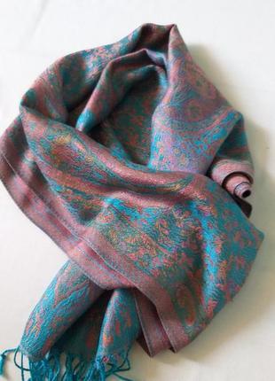 Шелковая шаль шарф tibet point