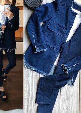 Стильный джинсовый костюм м