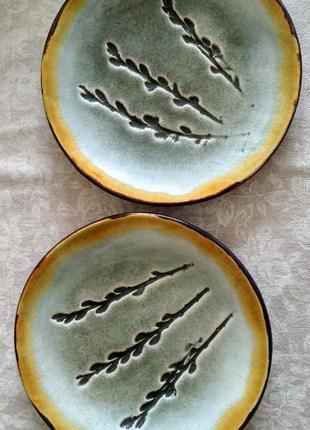 Тарелки керамические ручной работы 18 см