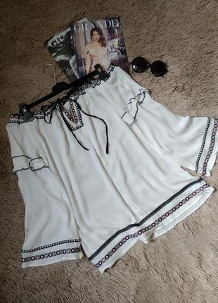 Шикарная блузка с открытыми плечами в этно стиле с вышивкой/блуза/туника/вышиванка