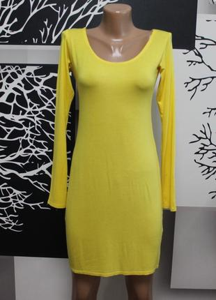 Яркое трикотажное платье boohoo в идеальном состоянии m