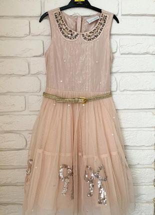 Нарядное платье next на девочку 7 лет